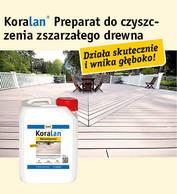 Koralan® Holzentgrauer (preparat do czyszczenia zszarzałego drewna)