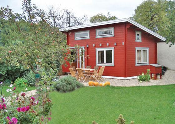 Pittura Per Esterni Grigia : Kora holzschutz: casa in rosso falun